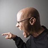 Profile of man screaming. — Stock Photo