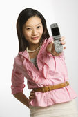 Woman on cellphone. — Stock Photo