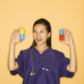 Doctor and pills. — Stock Photo