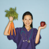 Doctor and nutrition. — Photo