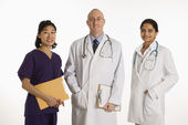 Man and women doctors. — Stock Photo
