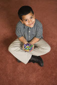 Boy holding Easter candy. — Stock Photo