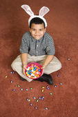 Boy celebrating Easter. — Stok fotoğraf