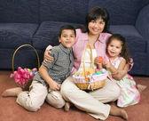 Family celebrating Easter. — Stock Photo