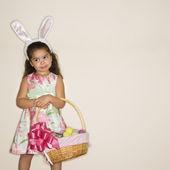 Girl celebrating Easter. — Stock Photo