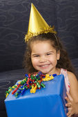 Girl celebrating birthday. — Stock Photo