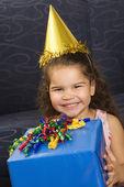 Girl celebrating birthday. — Stock Photo