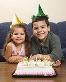 Kids having birthday party. — Stock Photo