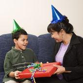 Family celebrating birthday. — Stock Photo