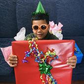 Chlapce narozeniny. — Stock fotografie