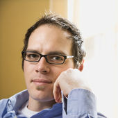 Man in glasses. — Stock Photo
