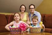 Easter family portrait. — Stock Photo