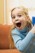 Excited girl. — Stock Photo