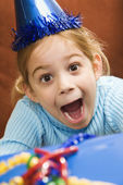 Excited girl at party. — Stock Photo