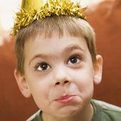 Boy birthday portrait. — Stock Photo