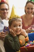 Boy at birthday party. — Stock Photo