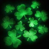 Green glitter shamrocks. — Stock Photo