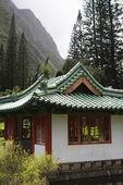 Pagoda in mountains — Stock Photo