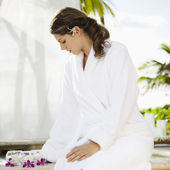 Woman at spa. — Stock Photo