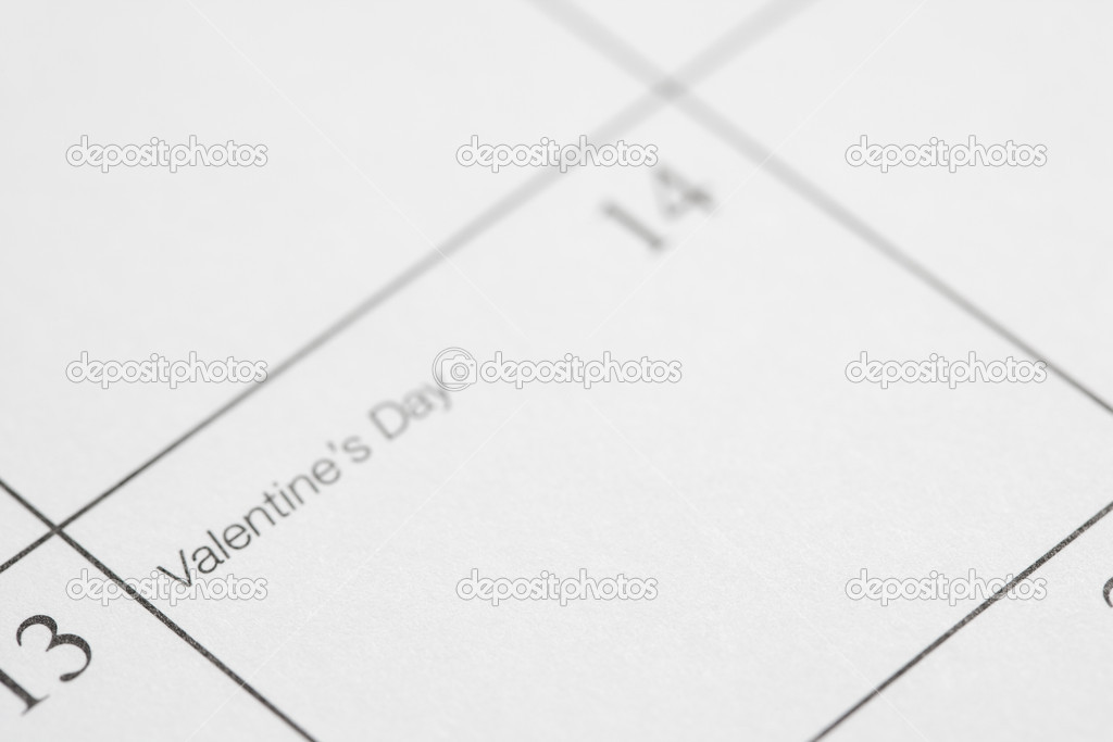 Close up of calendar displaying Valentines Day. — Stock Photo #9551002