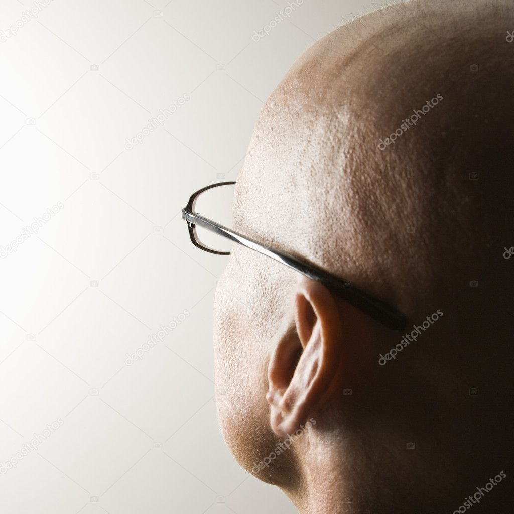 Backview of mid-adult Caucasian male's head. — Stock Photo #9552242