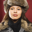 Woman in outerwear. - Stock Photo