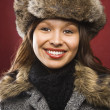 Woman in hat and coat. — Stock Photo
