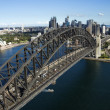 Stock Photo: Aerial Shot of Syndney Harbor Bridge
