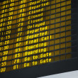 Airport Departure Board — Stock Photo #9613350
