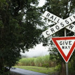 Railroad Crossing Sign - Stock fotografie
