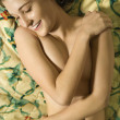 Partially nude woman. - Stock Photo