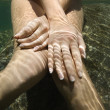 Nude woman underwater. - Stok fotoraf