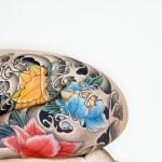 mulher tatuada — Foto Stock