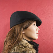 Woman wearing hat. — Stock Photo
