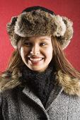 Woman in winter. — Stock Photo