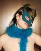 Woman wearing mask. — Stock Photo