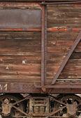 Lato di carro di legno vecchia ferrovia — Foto Stock
