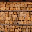 Stock Photo: Country yard dry masonry stonewall