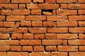 Eski ev tuğla duvar — Stok fotoğraf