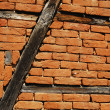 Frame-build half-timbered barn wall — Stock Photo