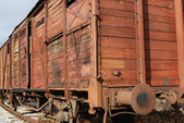 Old freight railway wagon — Stock Photo