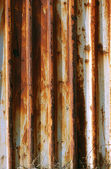 Corrugated rusty iron wall — Stock Photo