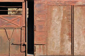 Covered goods wagon, sliding door — Stock Photo