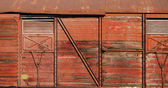 Covered goods wagon side as background — Stockfoto