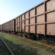 Stock Photo: Railway freight wagons