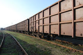 Railway freight wagons — Stock Photo