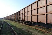 Railway freight wagons — Stock Photo