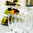 Table set for a wedding dinner — Foto Stock