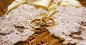 Wedding rings — Stock fotografie