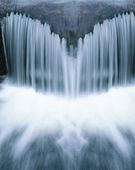 Waterfall close-up — Stock Photo
